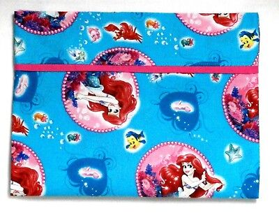 Ariel the Mermaid Toddler Pillowcase on Turquoise Cotton AM5-3 New Handmade