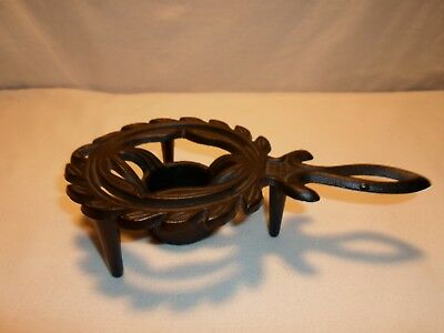 Vintage Cast Iron Kitchen Trivet with Votive Holder