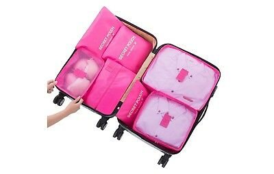 Fuschia 7pcs Packing Cubes for Travel - Organizer andCompression System