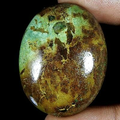 73.50Cts 100% NATURAL DESIGNER TIBET TURQUOISE OVAL CABOCHON UNTREATED GEMSTONE