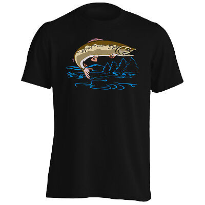 25eeec14e Fish Fisherman Trout Fishing Funny Novelty Men's T-Shirt/Tank Top rr65m