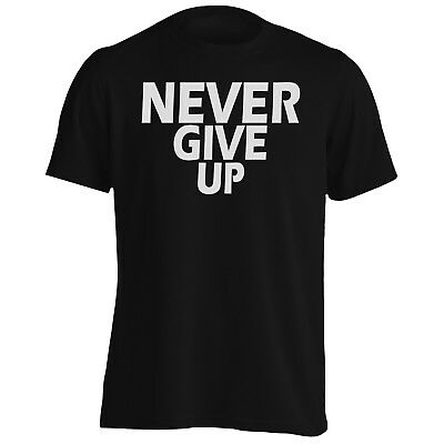 Never Give Up In Black Novelty Men's T-Shirt/Tank Top ff90m