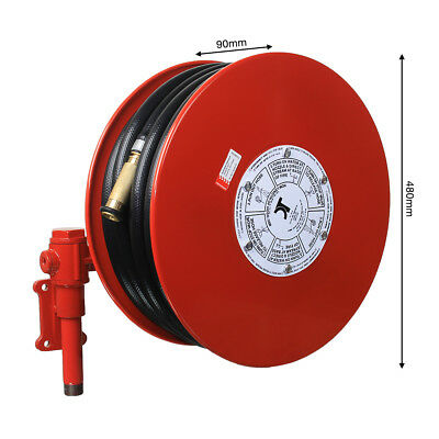 Fire Hose Reel Swivel Arm 36 meter Black Hose. Brass Nozzle. Built to AS1221