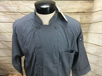 New Chef Works Chef Shirt Men's Large Gray