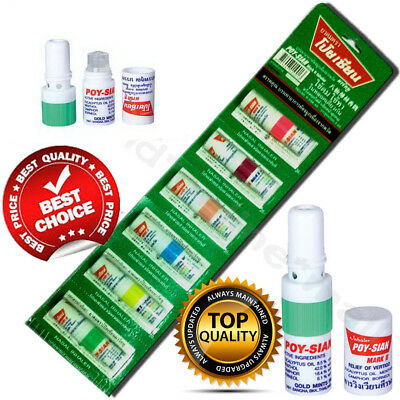6Pcs Poy Sian Mark 2 Ii Nasal Smell Dizziness Inhaler Bracing Breezy Asthma :)
