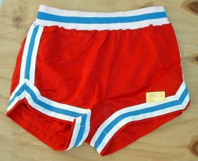 Vintage Sand Knit  Basketball Shorts Belmont high mesh red  small 30
