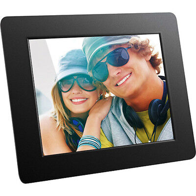 """Aluratek 8"""" Digital Photo Frame with Auto Slideshow Feature Home Office Decor"""