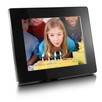 """Aluratek 8"""" Digital Photo Frame with 512MB Built-In Memory Home Office Decor New"""
