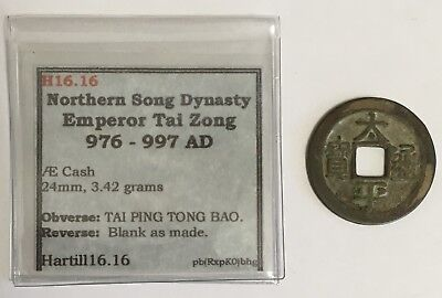 976-997 A.D. China Northern Song Dynasty Cash Coin Hartill 16.16 (L591)