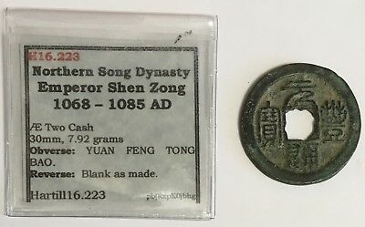 1068-1085 A.D. China Northern Song Dynasty 2 Cash Coin Hartill 16.223 (L595)