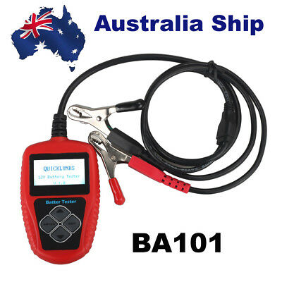 Australia Ship QUICKLYNKS BA101 Automotive 12V Vehicle Battery Tester/Analyzer