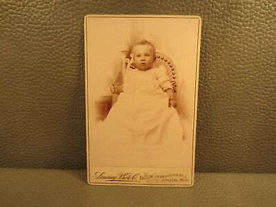 Victorian Antique Cabinet Card Photo of Infant Baby Girl