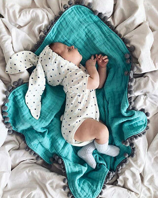 Newborn Infant Baby Boy Girl Kid Cotton Hooded Romper Jumpsuit Clothes Outfit AU