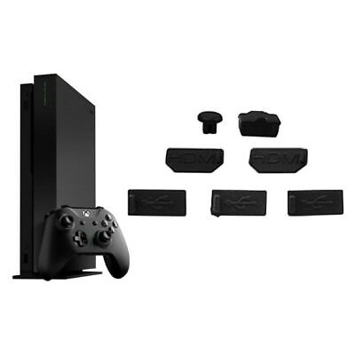 7pcs USB HDMI Dust Plug Cover for Xbox One X Gaming Console Dust Proof Cap Kits