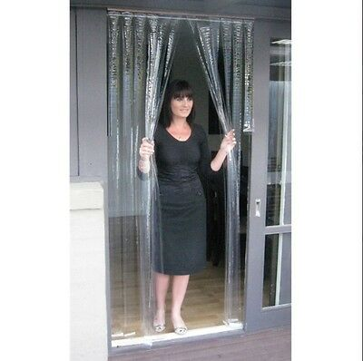 Door Curtain PVC - Clear - 900mm x 2000mm x 1.0mm Thick - ZONE HARDWARE - FS5795