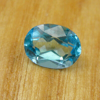 Oval 9x7mm Faceted Cut Swiss Blue Topaz Loose Natural Gemstone, 2.30 carats