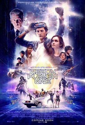 Ready Player One - original DS movie poster - 27x40 D/S Final Spielberg two side