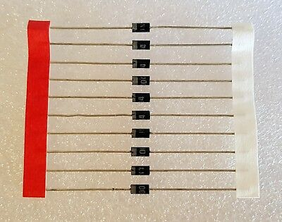 10pcs 1N4004 Rectifier Diode 1A 400V DO41 - Suitable 1N4001 Replacment