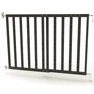 Noma Extending Safety Gate 63.5-106 cm Wood Grey Baby Security Barrier 94146