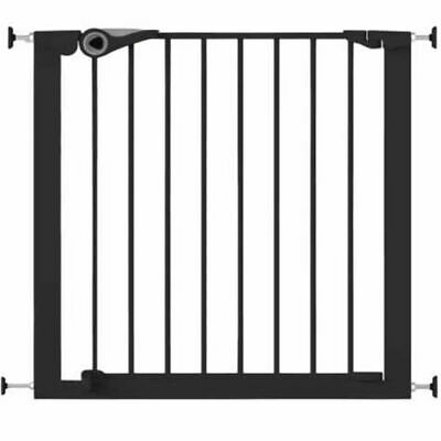 Noma Safety Gate Easy Pressure Fit 75-82 cm Metal Black Security Barrier 94313