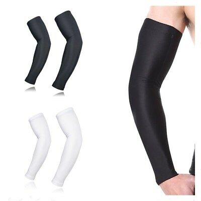 2 Pair Unisex Outdoor Sports Cooling Arm Warmers Sleeves Cover UV Sun Protection