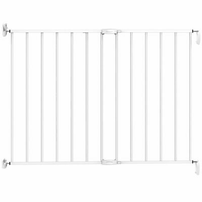 Noma Extending Safety Gate 62-102cm Metal White Baby Security Barrier 93361