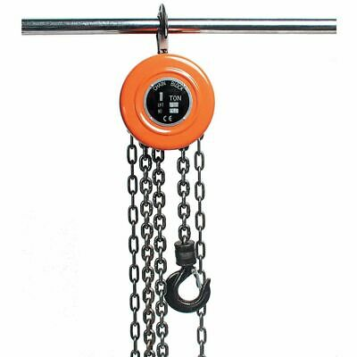 Brüder Mannesmann Chain Hoist 1 Tonne Garage Workshop Lifting Pulley 1254