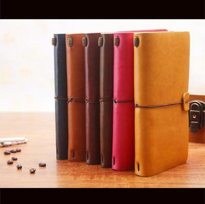 Retro Leather Bound Notebook Travel Journal Handmade Memory Vintage Style Diary