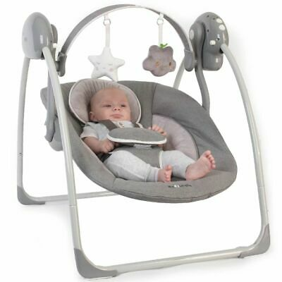 Bo Jungle B-Portable Baby Swing Grey Musical Vibration Chair Comfort B700310