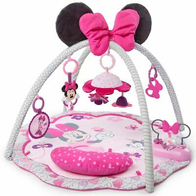 Disney Activity Gym Minnie Mouse Garden Pink Play Mat Canopy Carpet K11097