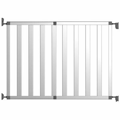 Noma Safety Gate Ikon Pure 62-104 cm Aluminium Silver Security Barrier 94078