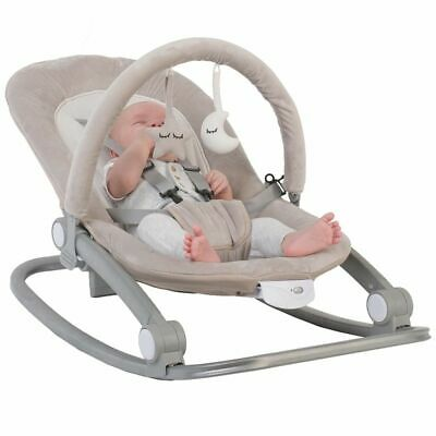 Bo Jungle B-Rocker Baby Bouncer Taupe Musical Vibration Chair Comfort B700110