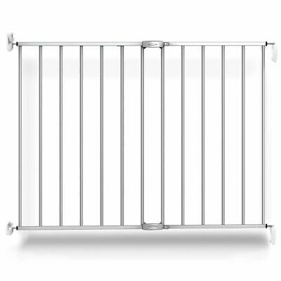 Noma Extending Safety Gate 62-102cm Metal Silver Baby Security Barrier 94245