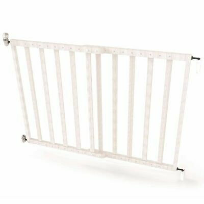 Noma Extending Safety Gate 63.5-106 cm Wood White Baby Security Barrier 94153