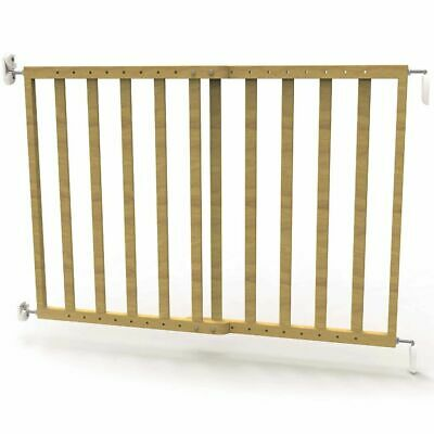 Noma Extending Safety Gate 63.5-106 cm Wood Natural Security Barrier 93729