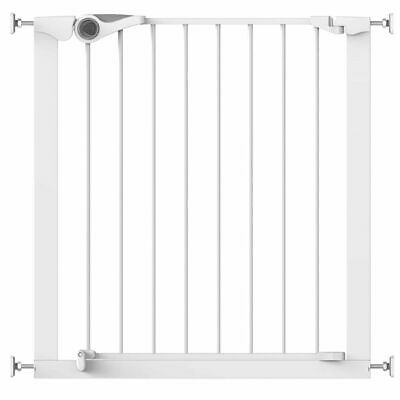 Noma Safety Gate Easy Pressure Fit 75-82 cm Metal White Security Barrier 93439