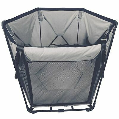 Bo Jungle B-Foldable Baby Playard Grey 120x75x140 cm Toddler Playpen B700400