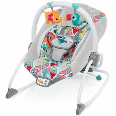 Bright Starts Baby Rocker Toucan Tango Vibration Cradle Swing Chair K11001