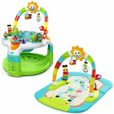 Bright Starts Activity Gym and Saucer Laugh & Lights Green Play Mat K60539
