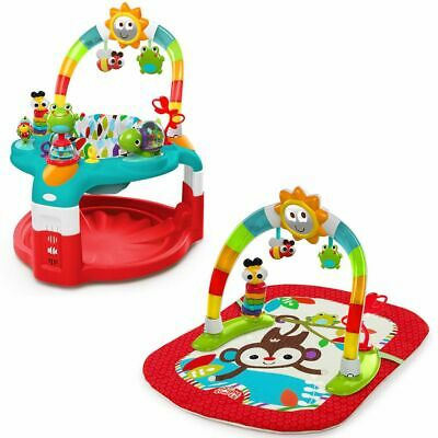 Bright Starts Activity Gym and Saucer Sunburst Red Baby Play Mat Canopy K10453