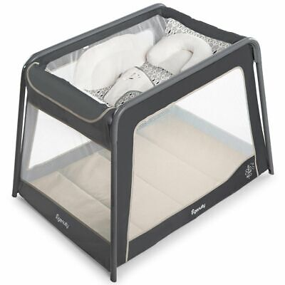Ingenuity Foldable Baby Playard TravelSimple Ellison Grey Child Playpen K10779