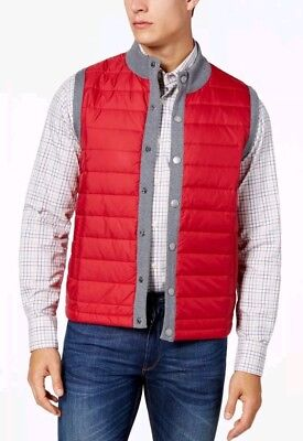 NEW Barbour Men's Red Essential Quilted Gilet Weather Comfort Vest LARGE