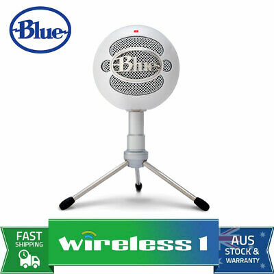 Brand New Blue Microphones Snowball iCE USB Microphone with HD Audio - White