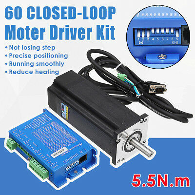 LCDA257S+LC60H2127 2PH 5.5N.m Closed Loop Stepper Motor Driver Kit w/ 2.7M Cable