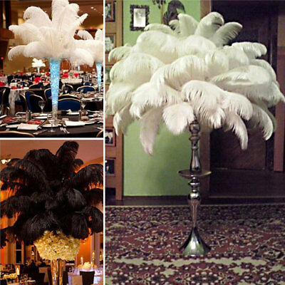 10x Ostrich Feathers BeautyCenterpiece Wedding Party Table Decoration 30-35cm AU