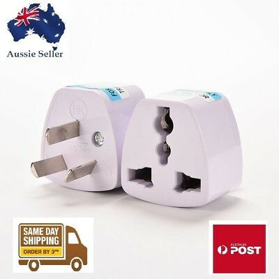 3pin Universal Power Plug Outlet Converter Travel Charger Adapter UK/US/EU to AU