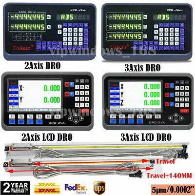2 Axis/3 Axis Digital Readout DRO Display Linear Scale CNC Milling Lathe Encoder