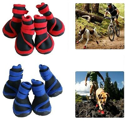 Dog Shoes Blue/Red Waterproof  XXS XS S M L XL XXL - Boots Booties Paws Injury