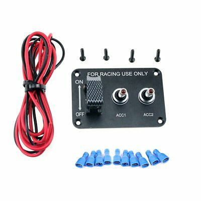 1 Set 12V 20A 3 Group Toggle Switches Panel for Racing Car Aluminum Plate M21