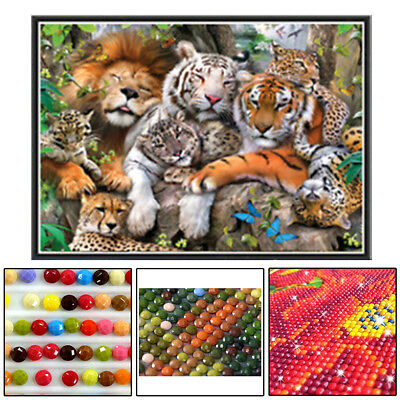 5D DIY Diamond Painting Flower Animal Embroidery Cross Stitch Home Wall Decor